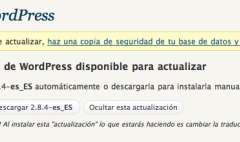 WordPress 2.8.4 disponible … de nuevo