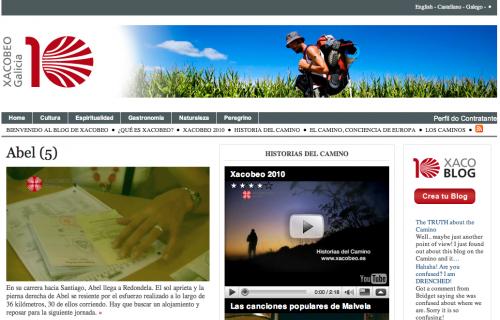 Blog oficial de Xacobeo (137 mil euros)