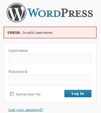 error acceso wordpress
