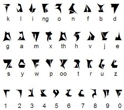 alfabeto klingon