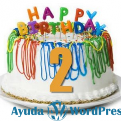 Ayuda WordPress cumple 2 años