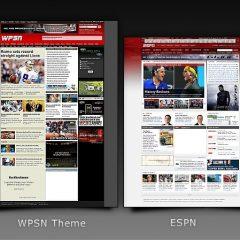 Temas que imitan webs famosas