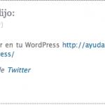 Twitter entra en la conversación de WordPress