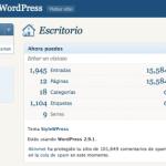 Quitando menús del escritorio de WordPress