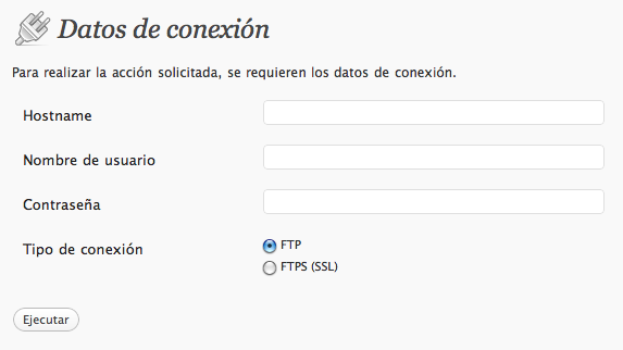 Instalar plugins y temas sin poner datos de FTP • Ayuda WordPress