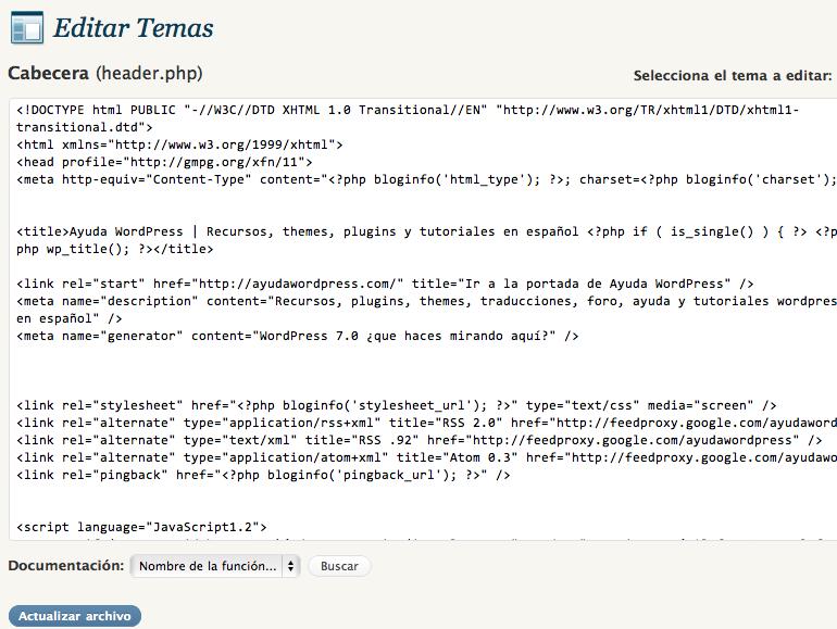 Desactivar el editor de plugins y temas en WordPress Multisitio ...