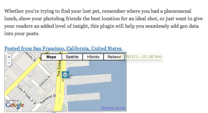 Geolocalización en WordPress • Ayuda WordPress