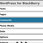 WordPress para Blackberry 1.2, pedazo de actualización