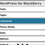 WordPress para Blackberry 1.2, pedazo de actualización
