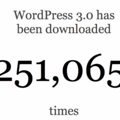Cuarto de millón de descargas de WordPress 3.0 en menos de 24 horas