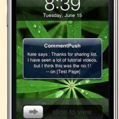Aviso de comentarios en el iPhone