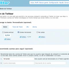 Añade el nuevo botón oficial de Twitter