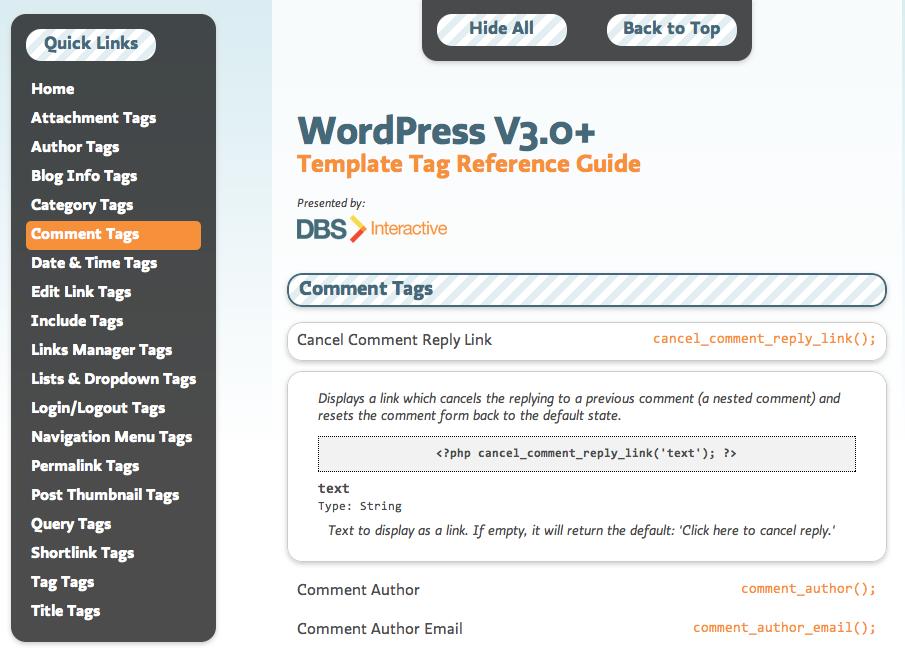 Template tags de WordPress 3.x • Ayuda WordPress