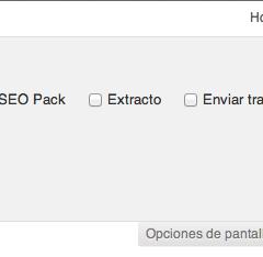 Como ocultar la pestaña de opciones de pantalla de WordPress