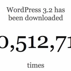Mas de 10 millones de descargas de WordPress 3.2