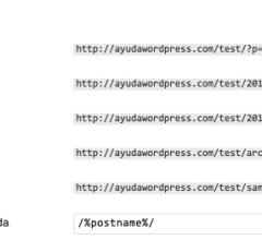 WordPress 3.3 – Enlaces permanentes