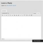 Editor nativo de WordPress en el formulario de comentarios