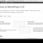 WordPress 3.3: La nueva pantalla de bienvenida