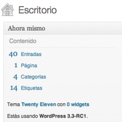 WordPress 3.3 RC1
