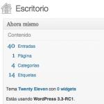 WordPress 3.3 RC1