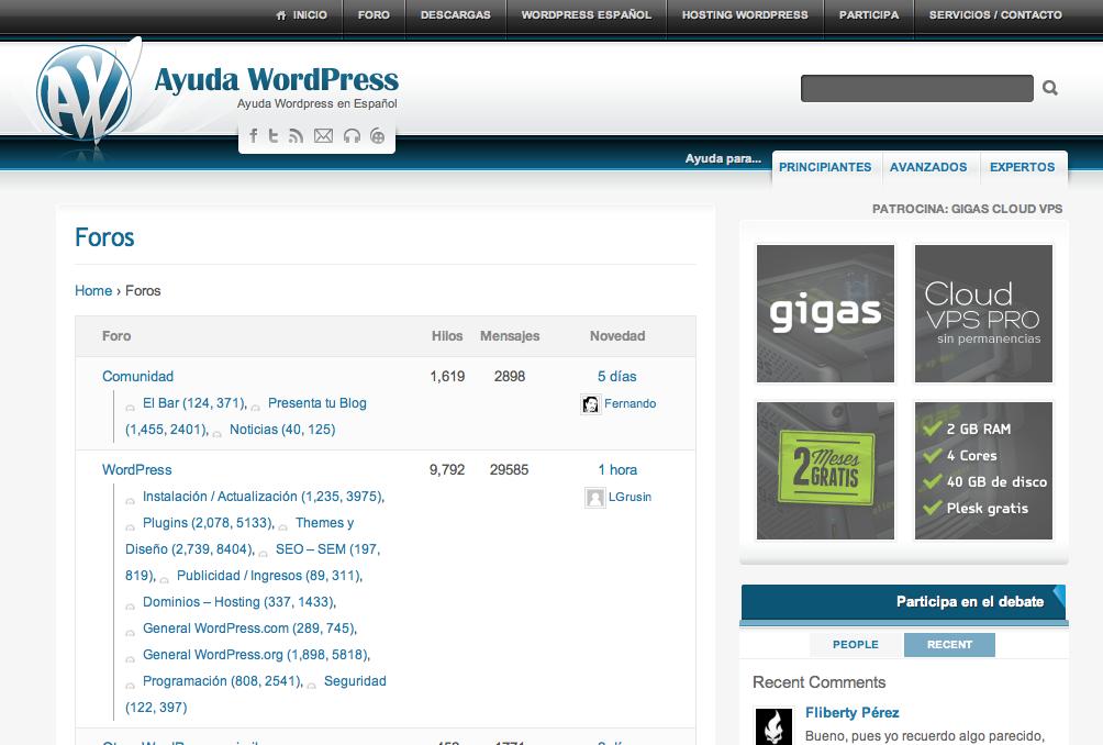 Foro y Foros WordPress