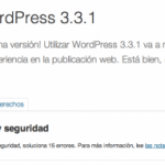 WordPress 3.3.1, actualización de seguridad