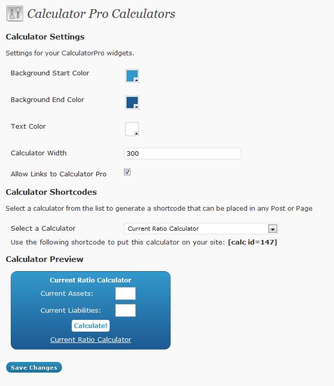 Calculadora y conversiones en WordPress
