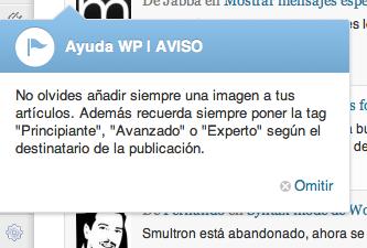 Avisos personalizados en WordPress
