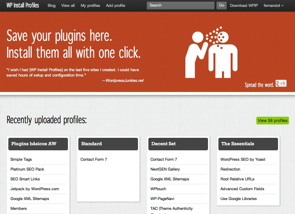 Crea instalaciones personalizadas de WordPress y compártelas