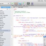 Syntax mode de WordPress para Panic CODA