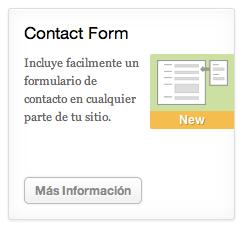 JetPack añade formularios de contacto con control de spam