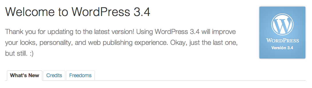 wordpress 3.4 instalado