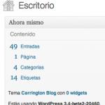 WordPress 3.4 beta 2