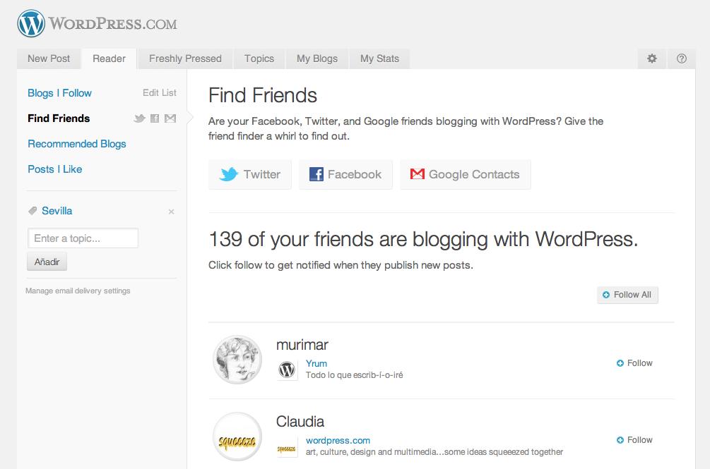 Tus amigos también usan WordPress