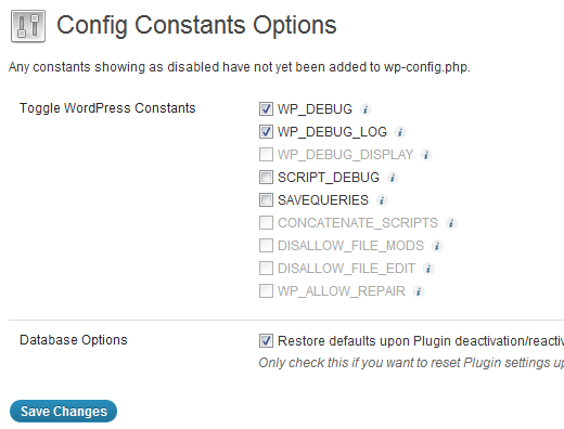Modificar wp-config.php desde dentro de WordPress