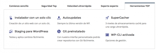 herramientas siteground wordpress