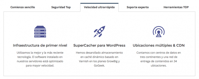 velocidad siteground wordpress