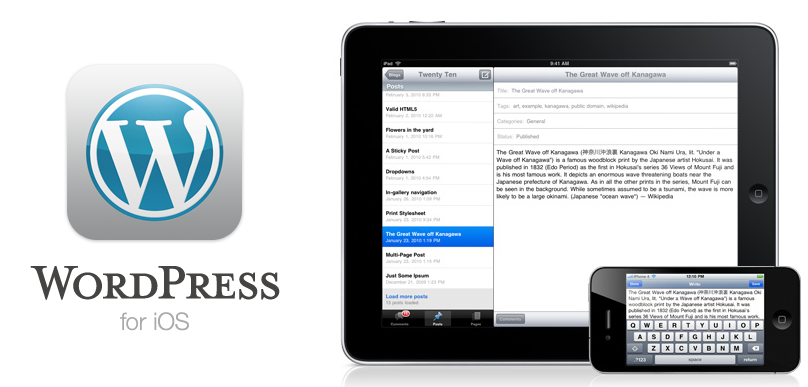 WordPress 3.0 para IOS disponible