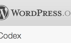 Busca en el Codex de WordPress desde la portada de tu Web
