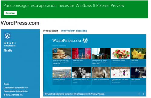 wordpress com para windows 8