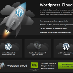 WordPress Cloud hosting 1 mes gratis