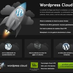 WordPress Cloud hosting 1 mes gratis