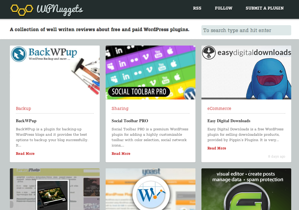 WPNuggets – sitio de reviews de plugins