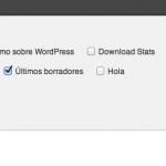 Quitar las Opciones de pantalla en WordPress