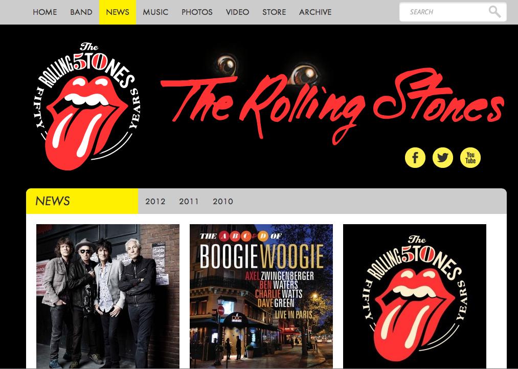 Los Rolling Stones se pasan a WordPress