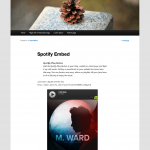 spotify embed wordpress