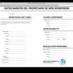 Hoja de datos de emergencia del propietario de una web WordPress