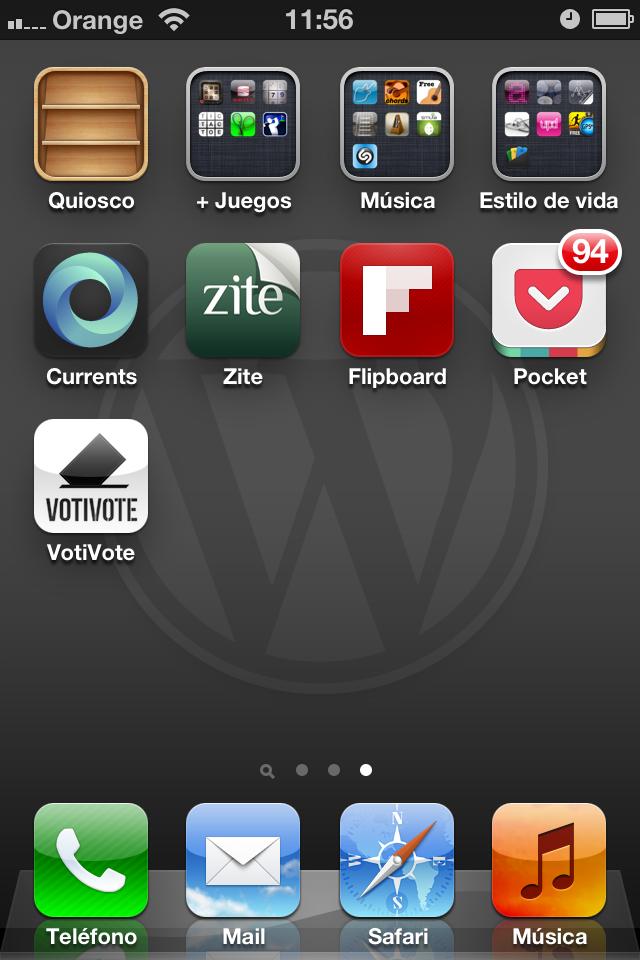 Logos WordPress para el móvil