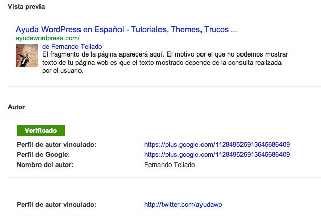 Autoría de contenidos en WordPress para mejorar el ranking en Google