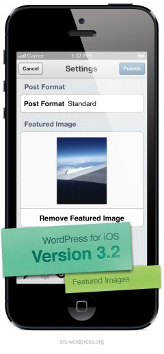 Por fin imágenes destacadas en WordPress para iOS